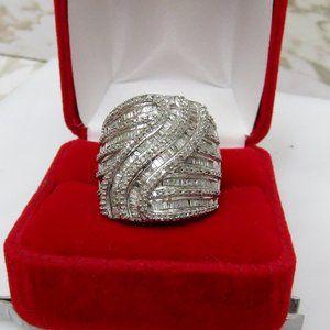 Large 3 CT Diamond Statement Ring Size 7